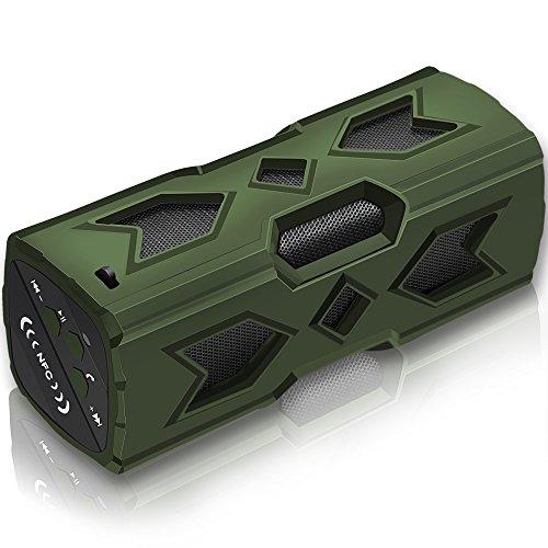 Svpro Bluetooth Lautsprecher Musikbox Tragbarer LED Bluetooth Box mit Freisprechfunktion für Handy und PC FM Radio Mikro-SD und USB Kabellos