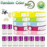 bestzy 10pcs braccialetti antizanzare naturale bracciale repellente bracciale in pelle zanzara insetti repellenti outdoor indoor per bambini, adulti, uomini e donne