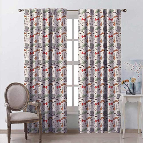 Toopeek Shading Insulated Curtain 40s High Wheels Soundproof Shade W100 x L84 Inch