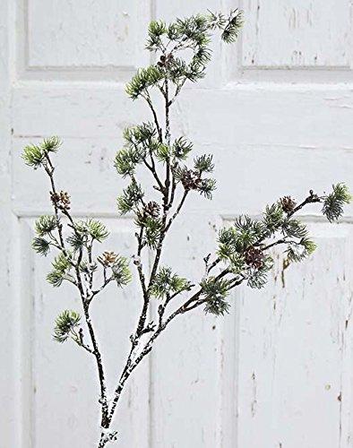 PLANT&STYLE Künstlicher Lärchenzweig, 104cm, grün-weiß