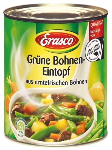 Erasco Grüne Bohnen-Topf mit Rindfleisch, 6er Pack (6 x 800 g Dose)