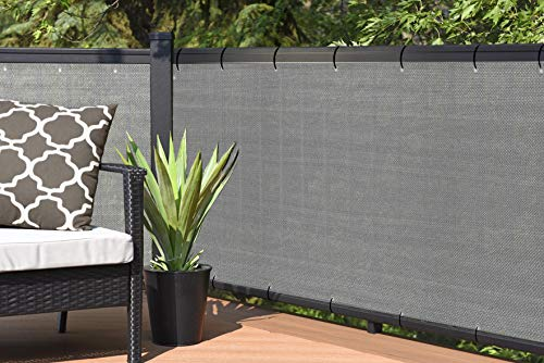 Alion Home Elegant Privacy Screen for Backyard Fence, Pool, Deck, Patio, Balcony, Outdoor Paneling and Outdoor Screening- Include Zip Ties (3 x 8 FT, Walnut)