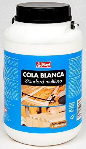 Rayt 429-23 Cola Blanca Standard múltiples usos: Madera, Papel, cartón, cerámica y Todo Tipo de Materiales porosos, 5kg