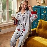 Camisones Pijamas De Una Pieza Pijama De Dibujos Animados Femeninos Lindo Cardigan Suelto Servicio A Domicilio Casual Usable