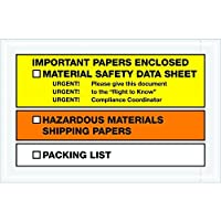 Ship Now Supply SNPL499 MSDS Envelopes Important Paper Enclosed 6 1/2 x 10 width 6.5 Length Yellow/Orange (Pack of 1000) [並行輸入品]