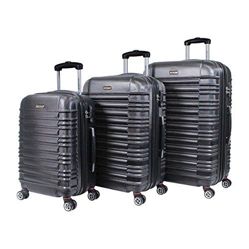 World Traveler California Ii 3-piece Hardside Tsa Spinner Luggage Set-Black, One Size