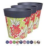 Hum Flowerpots Lot de 3 Pots de Fleurs en Forme de Fleurs de Grande échelle - pour intérieur/extérieur - 22 x 22 cm