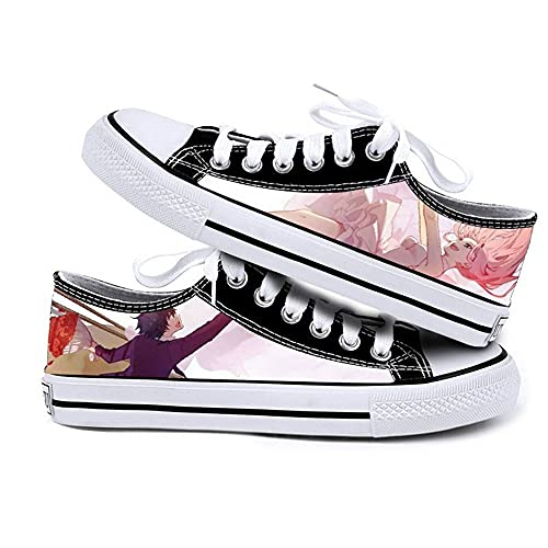 NIEWEI-YI Zapatillas Hombre Mujer Anime Darling in The FRANXX Print Canvas Shoes Canvas Sneakers Casual Shoes,43 EU