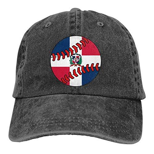 WH-CLA Unisex Baseball Kappe Dominikanische Republik Flagge Baseball Clipart Classic Bb Baseball Cap Verstellbar Twill Cap Herren Damen Baseball Hut Atmungsaktiv Tennis Golf Kappe