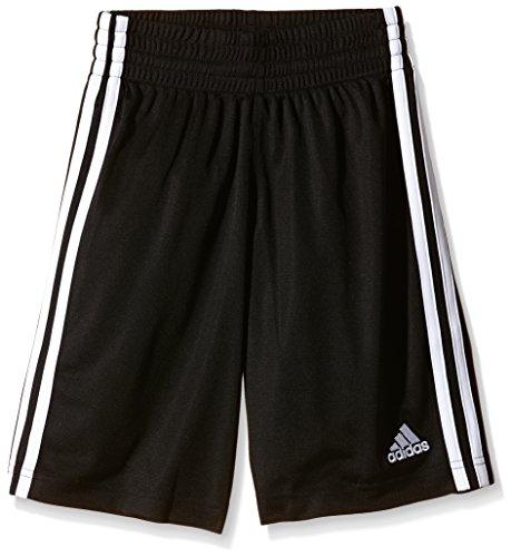 Adidas G7663715 Pantaloncini da Basket da Giovani, Nero (Schwarz/Weiß), 128 cm