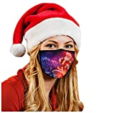 XCH 1PC Adults LED Christmas Face Covering Mask Light Up Face Bandanas Christmas Lights Glowing Face Bandanas...