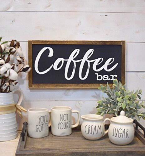 Rea66de Schild für Kaffeebar, Kaffeebar, Küchendekoration, Landhaus-Schild