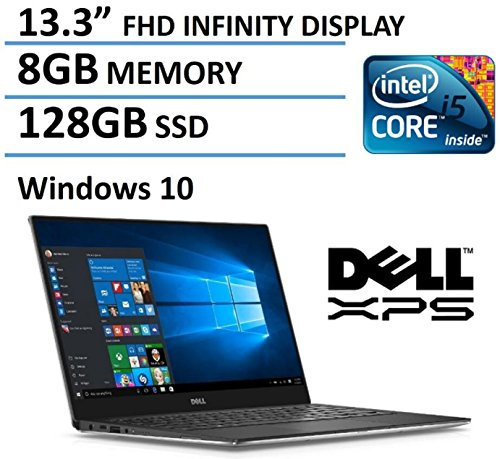 2016 Dell XPS 13 High Performance Laptop with 13.3' FHD IPS Infinity Borderless Display, Intel...