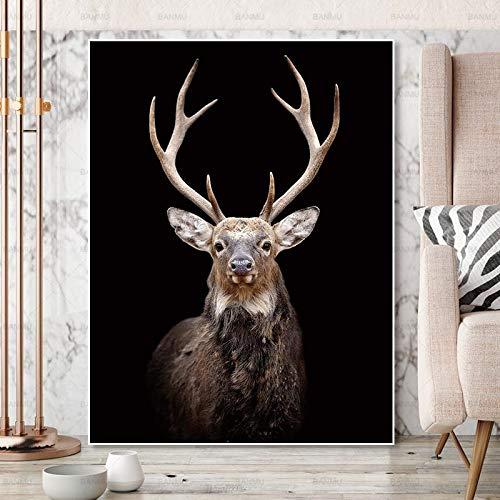 Sin Marco de Armario de Almacenamiento, Canvas Lion HD Oil ng, Printing Apartment, Corporate Wallpaper30x40cm