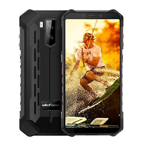 Ulefone Armor X5 (2020) 4G Android 9 Outdoor Handy Smartphones, 32GB Speicher 3GB RAM 5000mAh Akku Smart Button wasserdichte Kamera, Unterwassermodus, 5,5 Zoll, Face WiFi GPS FM Schwarz