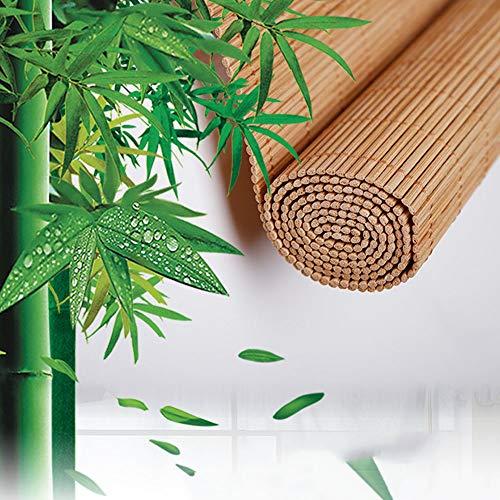 Bambusrollos Jalousien, Natürliche Raffrollo Rollläden Für Fenster/Tür/Terrasse, Sonnenschutz Vorhang Balkon Dekoration, Anpassbar