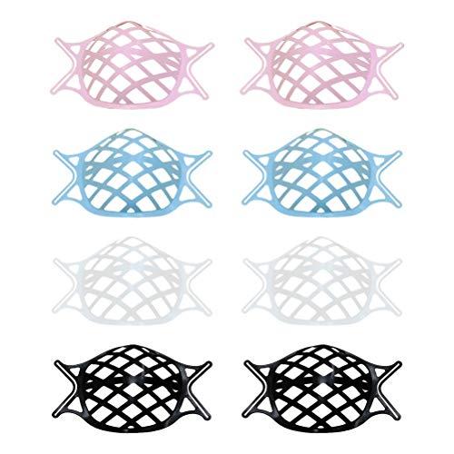 Rlevolexy Gestell - 8 PCS 3D-Innenhalterung für Silikon-Lippenstiftschutzständer Nasenschutz Lippenstift Wiederverwendbare Halterung