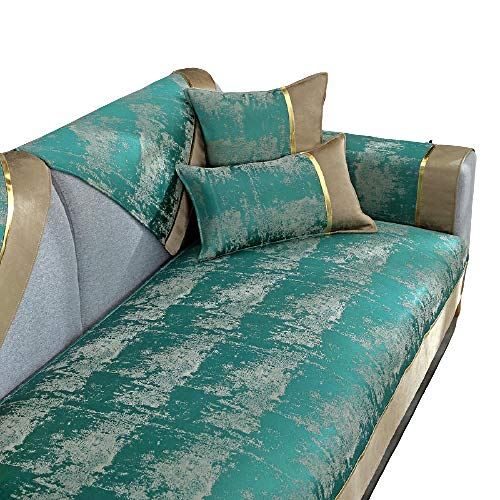 Four Seasons Fundas de sofá universales Antideslizantes en Forma de L Fundas de sofá seccionales,Funda de sofá Protector de Muebles Fundas de sofá Antideslizantes,D,110 * 110cm