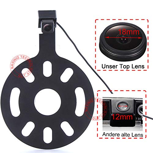 Dynavsal HD CCD Caméra de Recul Imperméable Vision Nocturne pour Jeep Wrangler/Willys/Unlimited Sahara Spare Tire Rubicon 2007 to 2015