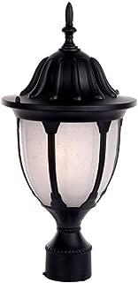 Acclaim 5067BK/FR Suffolk Collection 1-Light Post Mount Outdoor Light Fixture, Matte Black