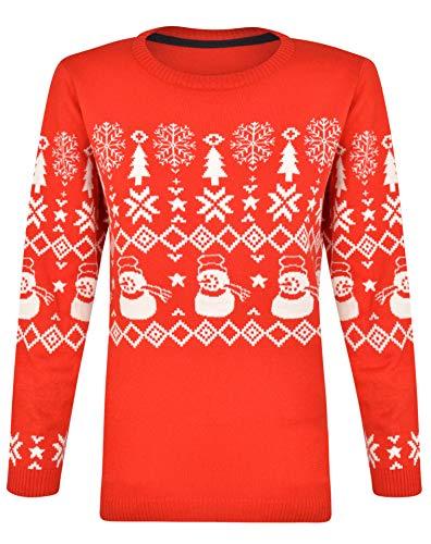 NOROZE Kinder Weihnachten Pullover Jungen Mädchen Retro Elf Schneemann Weihnachtsmann Faire Insel Rentier Neuheit Pull Kinder- Geschenke Xmas Strickpullover (9-10 Jahre, 3D Nase Rudolph Königsblau)