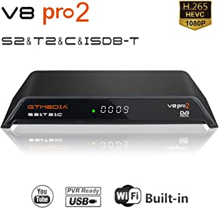 GT MEDIA V8 PRO2 DVB-T/T2 ISDB-T S/S2/S2X Cable HD 1080P TV Digital Terrestrial Receiver Satellite Decoder Wi-Fi Built-in, H.264 / H.265 HEVC / MPEG2 / MPEG4 Support New cam IP TV