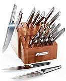 DALSTRONG – Juego de 18 cuchillos – Serie Crusader – Acero inoxidable alemán forjado Thyssenkrupp de alto carbono – con vaina magnética – Certificado NSF