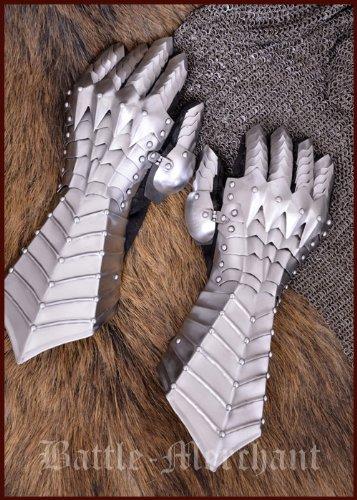 guanti medievali Piastre mano scarpe - paio di