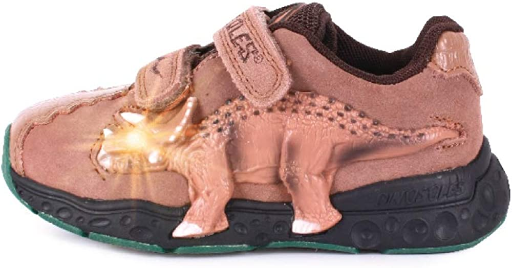 Dinosles 3D Triceratops LT San Francisco Mall Flashing Rapid rise LED Children Kids Shoes for