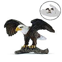 3.3インチ白頭Eagle野生生物玩具置物動物フィギュアミニファーム動物のおもちゃジャングル用男の子女の子子供幼児森林動物おもちゃパーティー好意プレイセットギフト新年