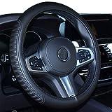 ISTN Funda para volante de coche, cómoda y duradera, seguridad para hombres, mujeres y niñas, color negro