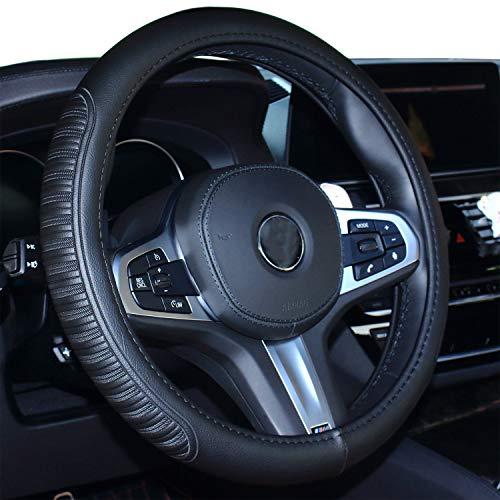 Coole Auto Lenkradabdeckung Komfort Haltbarkeit Sicherheit für Männer Frauen Mädchen Dame (schwarz)
