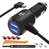 Car Charger Compatible for Garmin Nuvi, APPHOME 6.6ft Mini USB Charing Cord 12V/36V Garmin GPS Accessories Vehicle Power Adapter Compatibe for Garmin GPS Nuvi 2539LMT 2597LMT Dashcam
