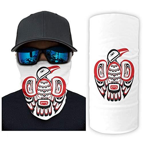 NA stam Haida vogel tattoo druk bandana gezichtsmasker zonnebescherming gezichtssjaal