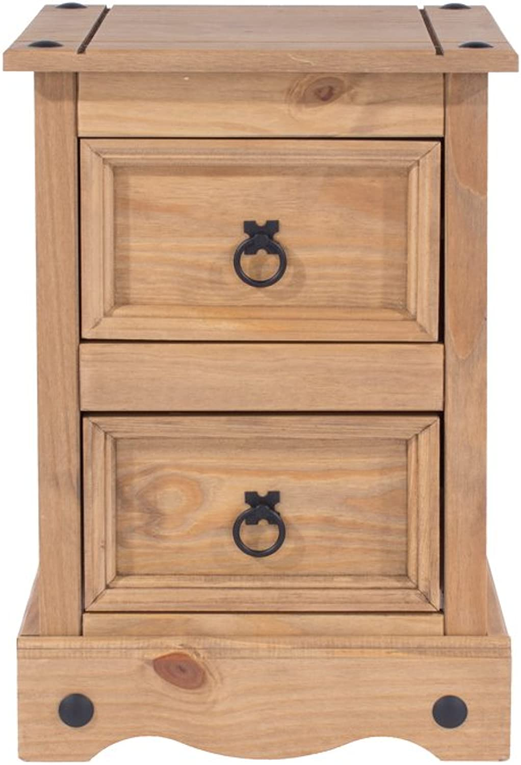Core Products CR509 Two Drawer Petite Bedside Cabinet, Antique Wax by Core Products