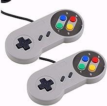 Link-e - Lot de deux manettes de jeu pour console Super Nintendo SNES