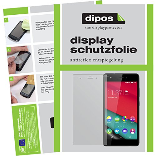 6x dipos Schutzfolie Wiko Pulp Bildschirmschutzfolie matt