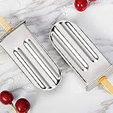 ZER - Molde para paletas de helado (acero inoxidable, 6 unidades)