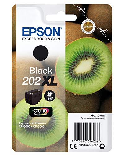 Epson Kiwi Singlepack Black 202XL Claria Premium Ink Druckerpatrone (Original, Tinte auf Pigmentbasis, Black, Epson, 1 Stück)