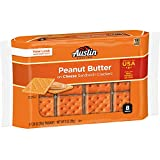 Austin, Sandwich Crackers, Cheese Crackers with Peanut Butter, 11 oz (8 Packs)