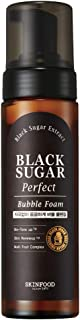 SKIN FOOD Black Sugar Perfect Bubble Foam 6.7 fl. oz. (200ml) - Exfoliating and Moisturizing Soft Bubble Cleansing Foam, Removes Impurities and Dead Skin Cells