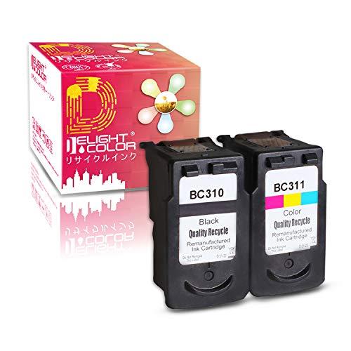 再生インク(純正インクじゃない)Canon(キャノン)用BC-310+BC-311(ブラック+カラー)2個セット 残量表示付 【対応機種】PIXUS - (MP493, MP490, MP480, MP280, MP270, MX420, MX350, iP2700)