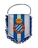 RCD Espanyol Banesp Banderín, Azul/Blanco, 15 x 11 cm