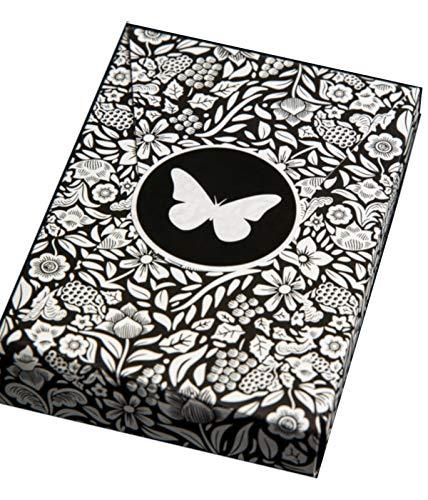 Butterfly Playing Cards schwarz weiße Edition - Designer Karten mit neuem bahnbrechenden Markiersystem ( Black / White )