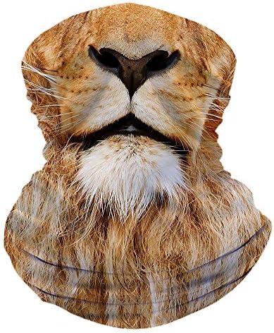 Shuwekk Lion Face Scarf Bandana Face Mask Neck Gaiter Headwear Balaclava Headband for Women product image