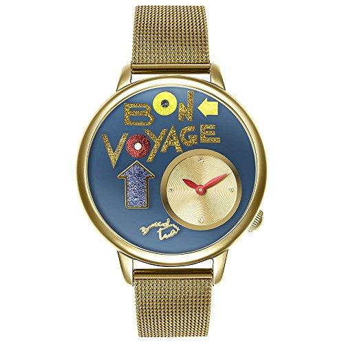 Orologio Braccialini Donna Bon Voyage Gold Cinturino Mesh Acciaio TUA 182/1AM