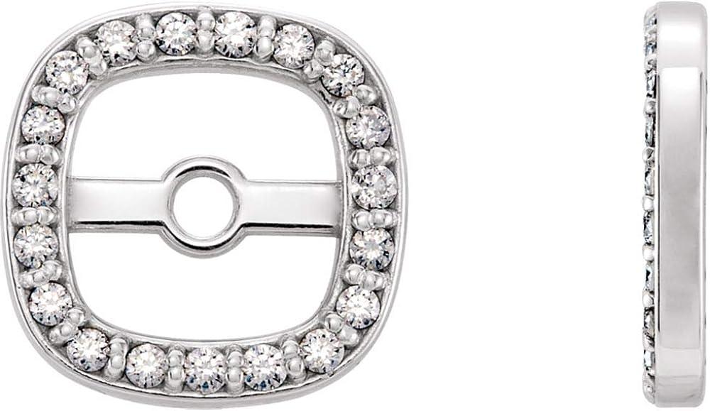 Jewels By Lux 14K White Gold 1/10 CTW Diamond Earrings Jackets