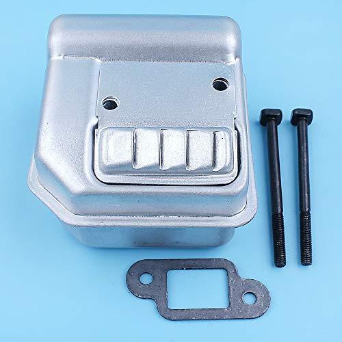 HaoYueDa Silenciador de Escape Perno Gasket Kit Compatible con Stihl MS180 018 017 MS170 MS180C MS170C MS 170 180 Motosierra Silenciador de Pieza de Recambio