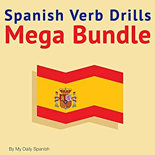 Spanish Verb Drills Mega Bundle audiobook cover art