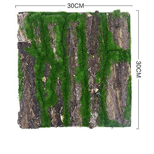 Simulación De Pino Seco Corteza De Musgo Artificial Falso Planta De Vid Flores Cubierta Del Pilar De Agua Cubierta Envolver Verde Decoración De La Pared Plantas (Color : 30x30cm)